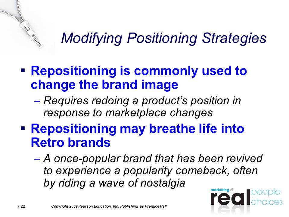 Modifying Positioning Strategies