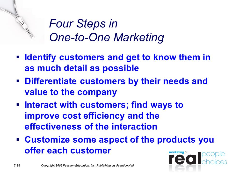 Four Steps in One-to-One Marketing