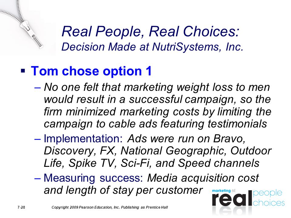 Real People, Real Choices: Decision Made at NutriSystems, Inc.