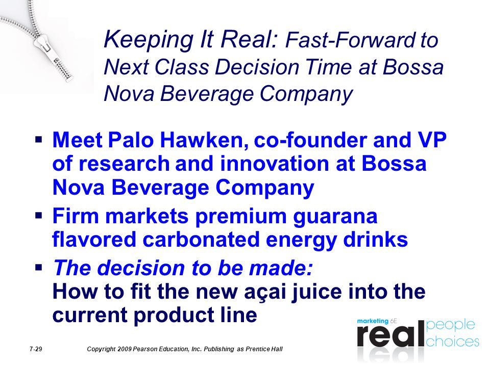 Keeping It Real: Fast-Forward to Next Class Decision Time at Bossa Nova Beverage Company