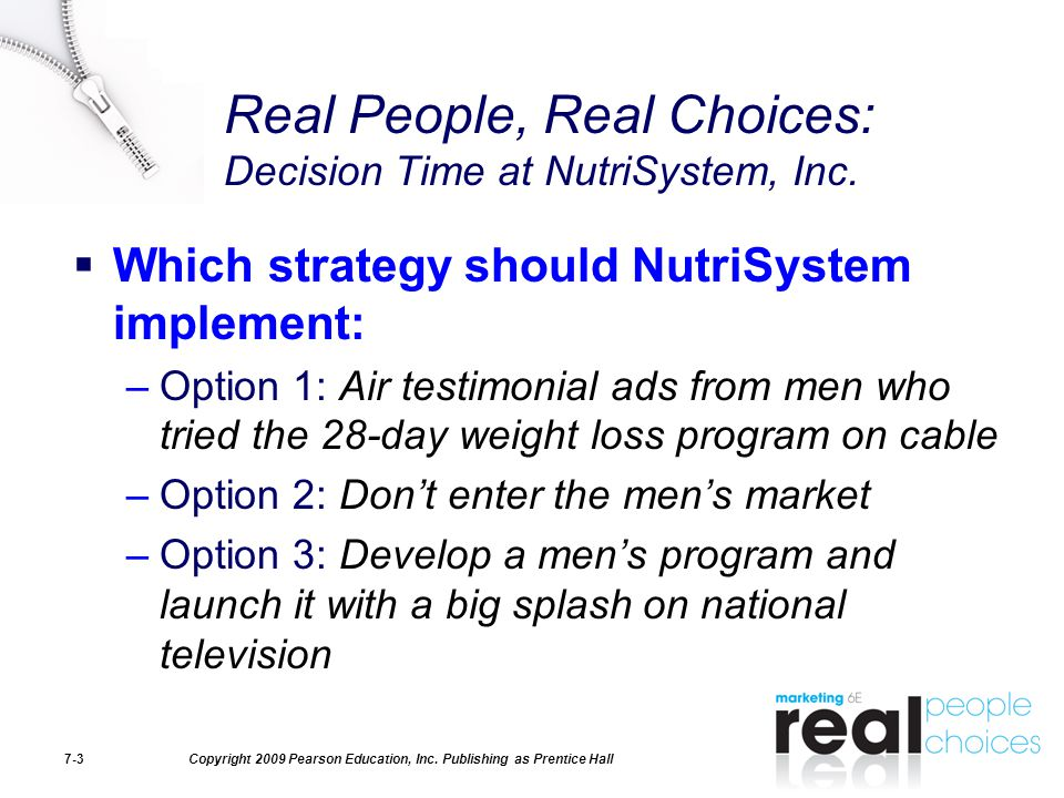 Real People, Real Choices: Decision Time at NutriSystem, Inc.