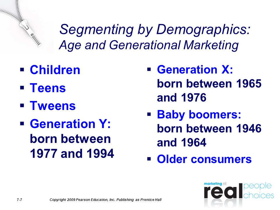 Segmenting by Demographics: Age and Generational Marketing