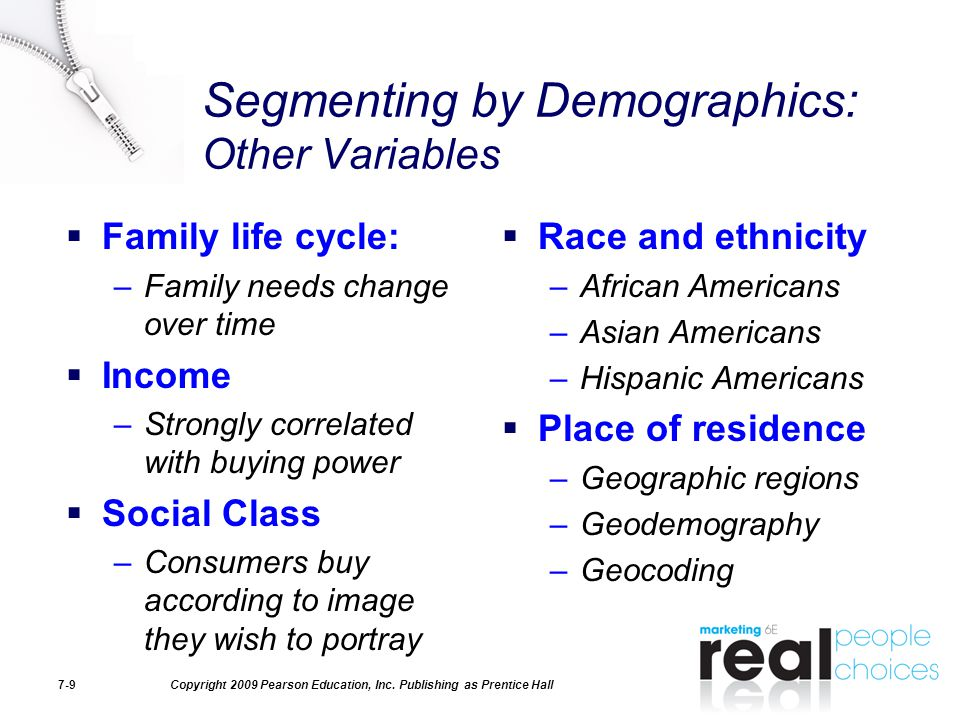 Segmenting by Demographics: Other Variables