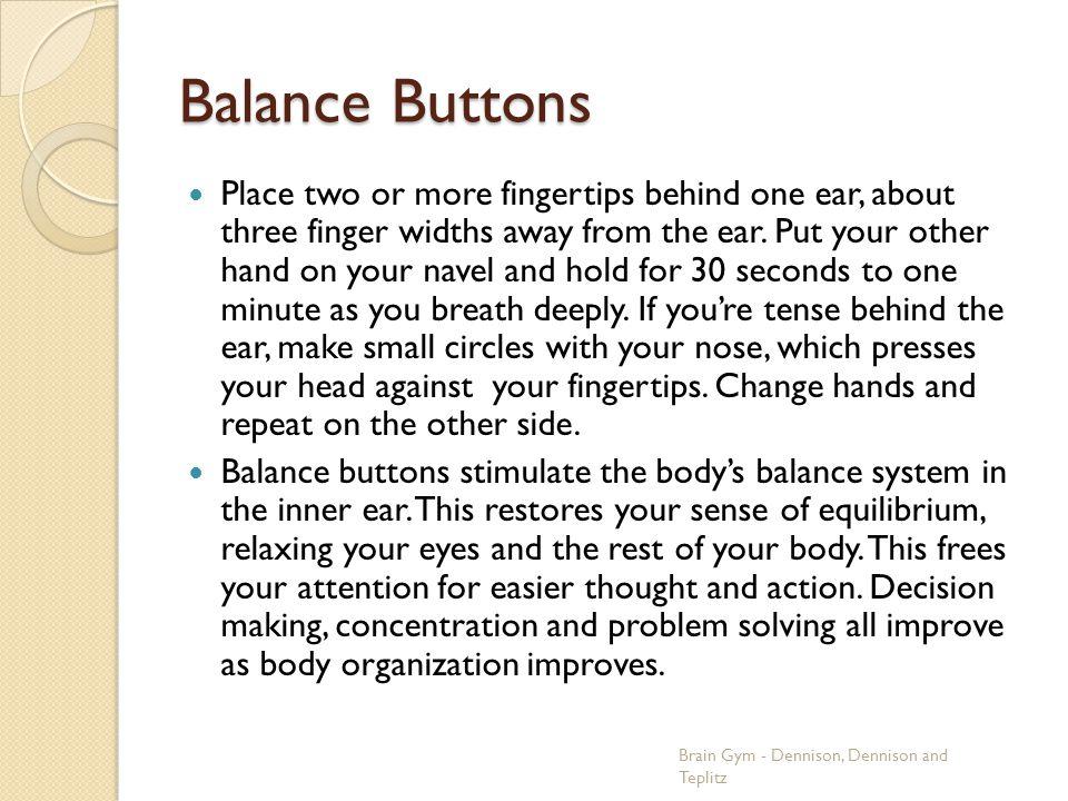 Balance Buttons