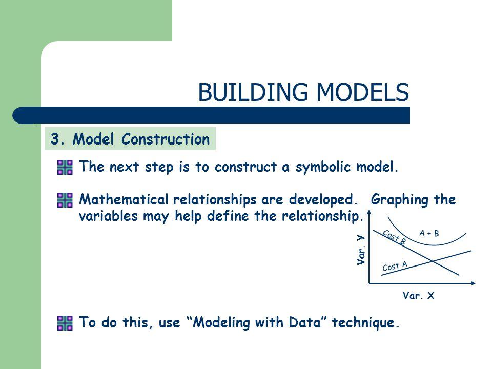 BUILDING MODELS 3. Model Construction