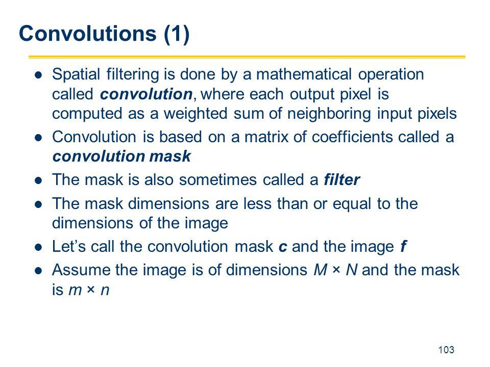 Convolutions (1)