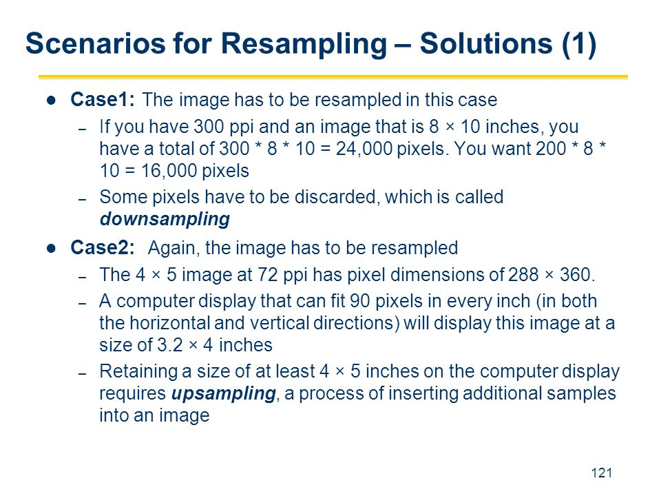 Scenarios for Resampling – Solutions (1)