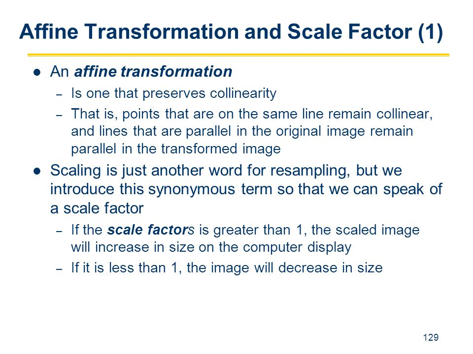 Affine Transformation and Scale Factor (1)