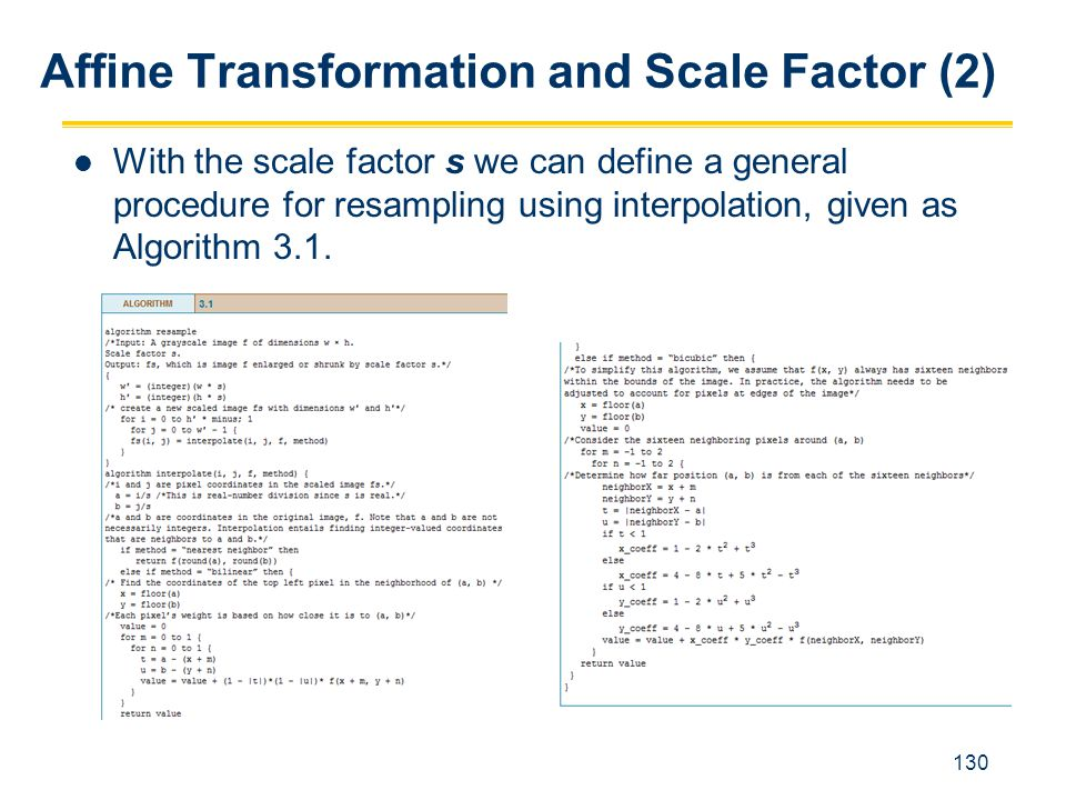 Affine Transformation and Scale Factor (2)