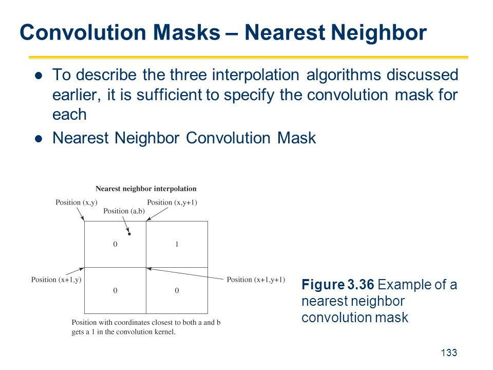 Convolution Masks – Nearest Neighbor
