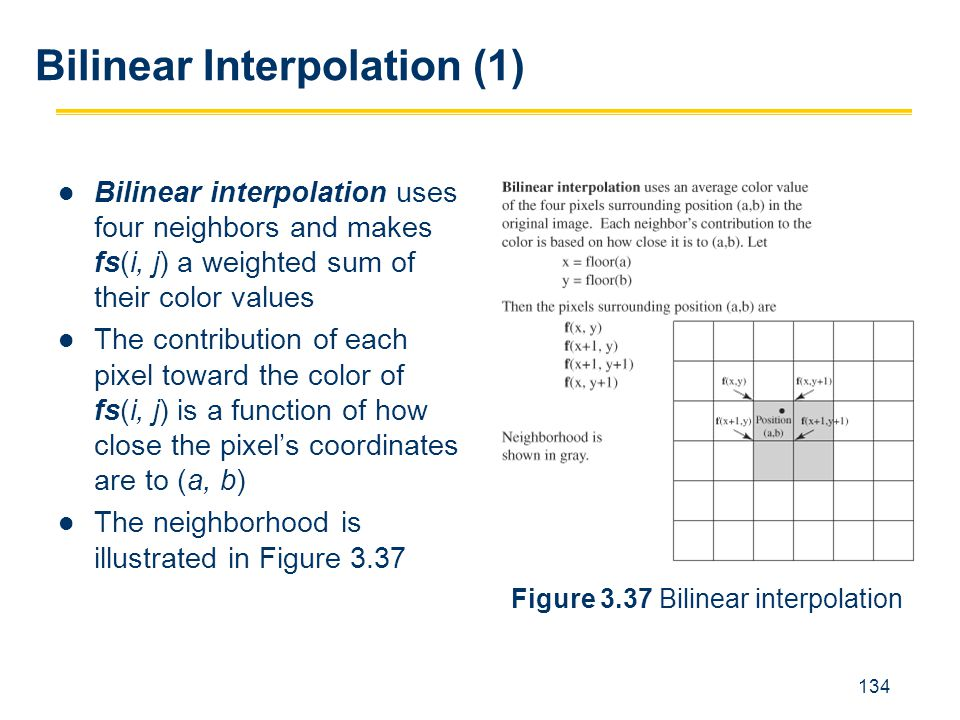Bilinear Interpolation (1)