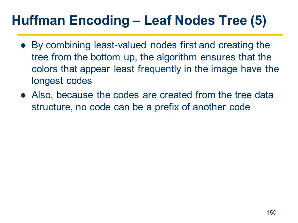 Huffman Encoding – Leaf Nodes Tree (5)