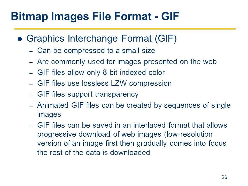 Bitmap Images File Format - GIF