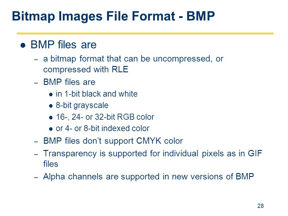 Bitmap Images File Format - BMP