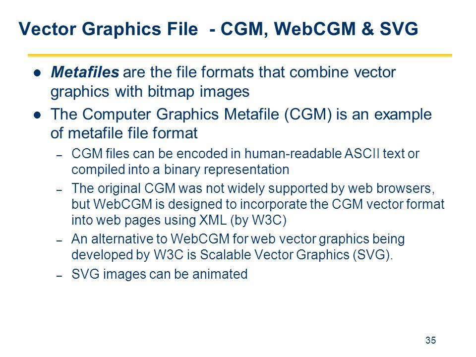 Vector Graphics File - CGM, WebCGM & SVG