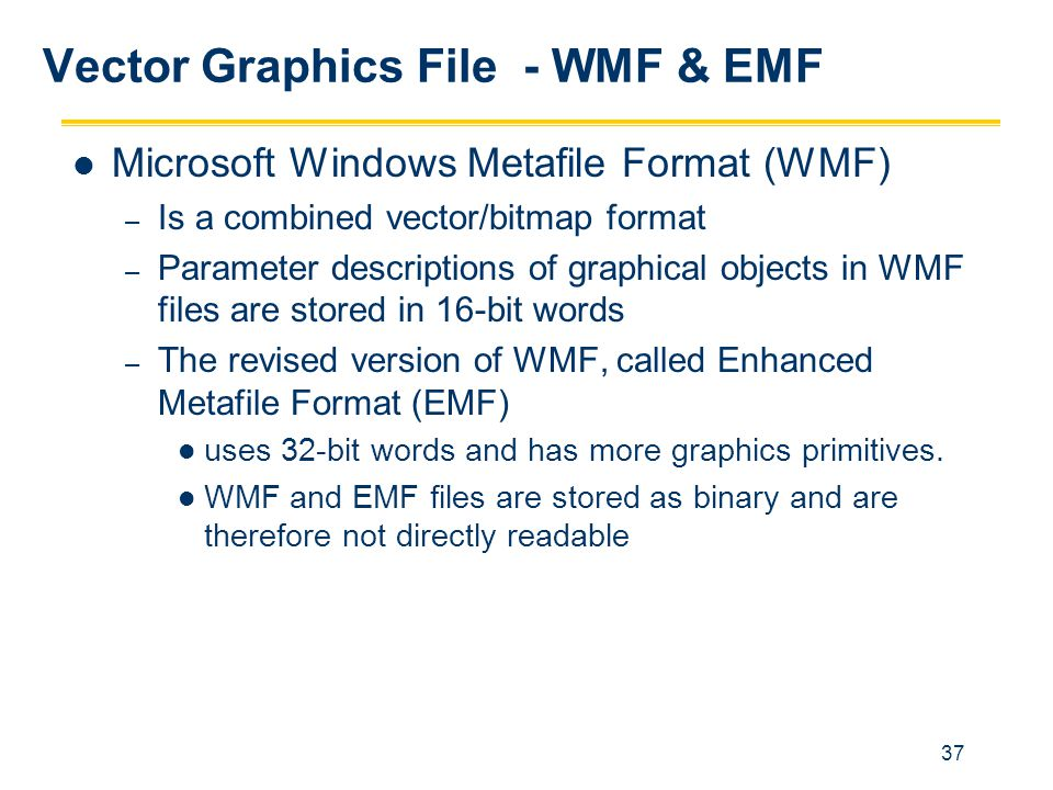 Vector Graphics File - WMF & EMF
