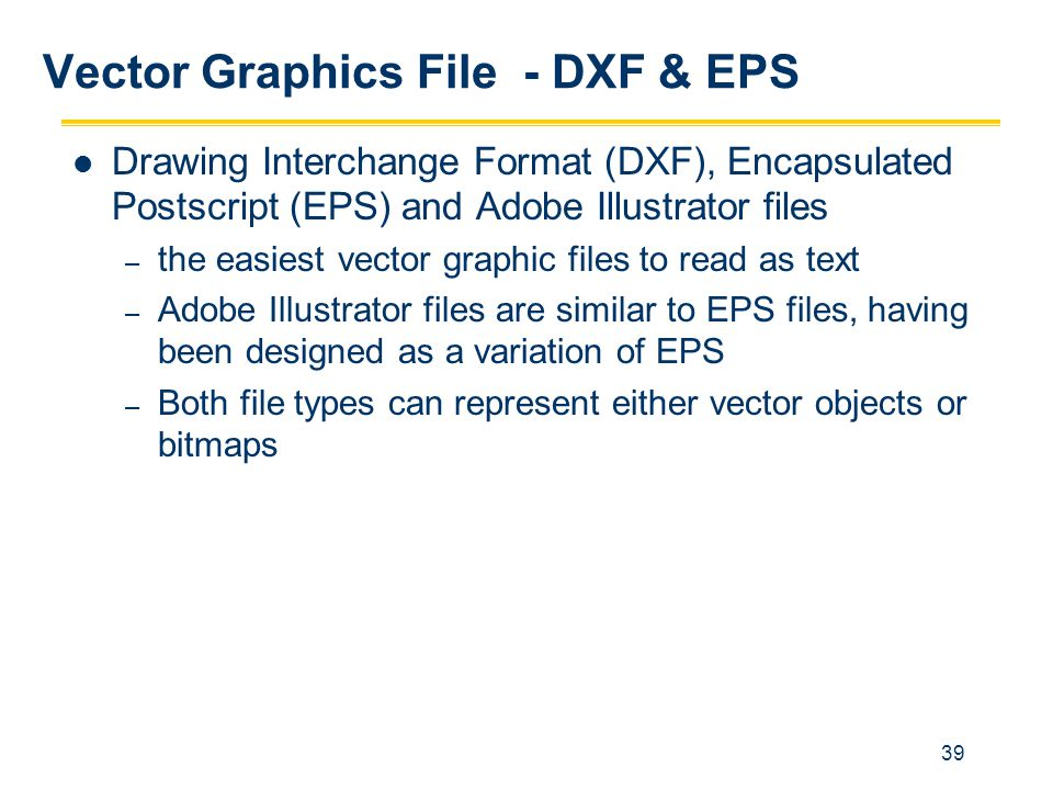 Vector Graphics File - DXF & EPS