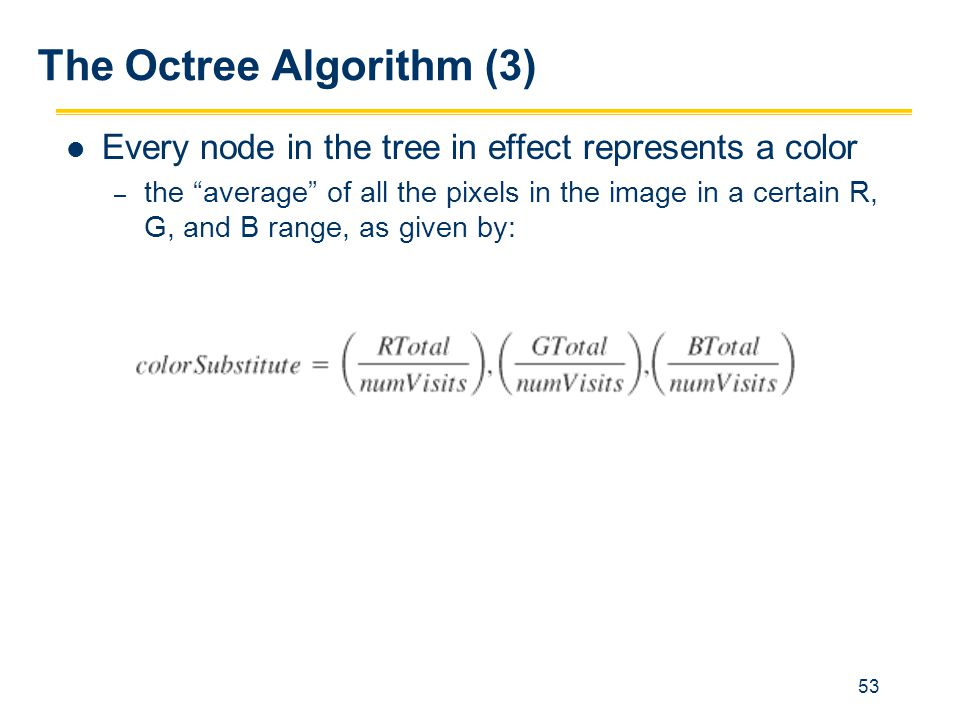 The Octree Algorithm (3)