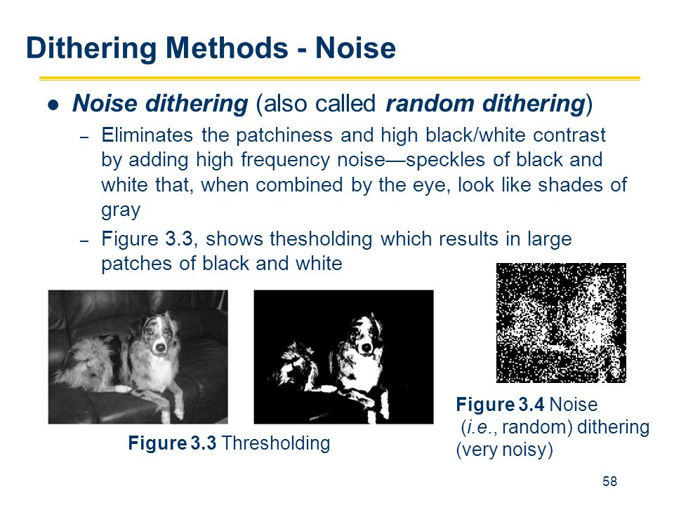 Dithering Methods - Noise