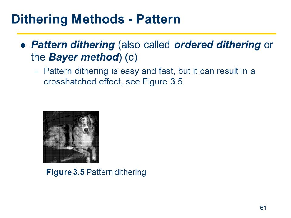 Dithering Methods - Pattern