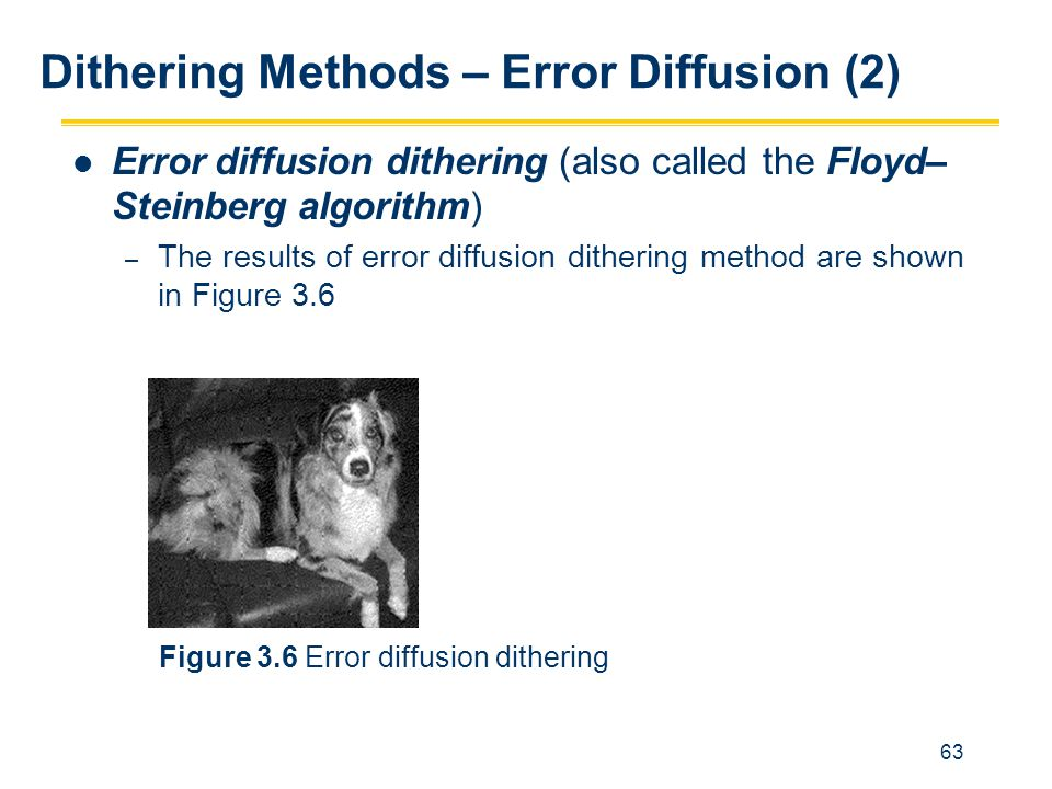 Dithering Methods – Error Diffusion (2)