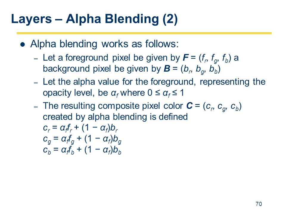 Layers – Alpha Blending (2)