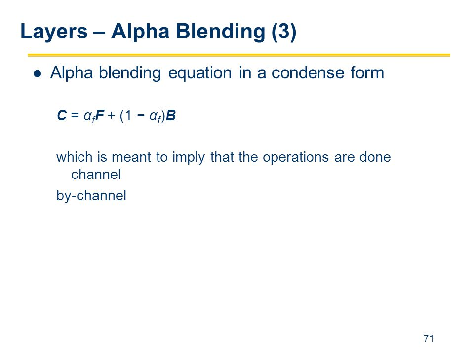 Layers – Alpha Blending (3)
