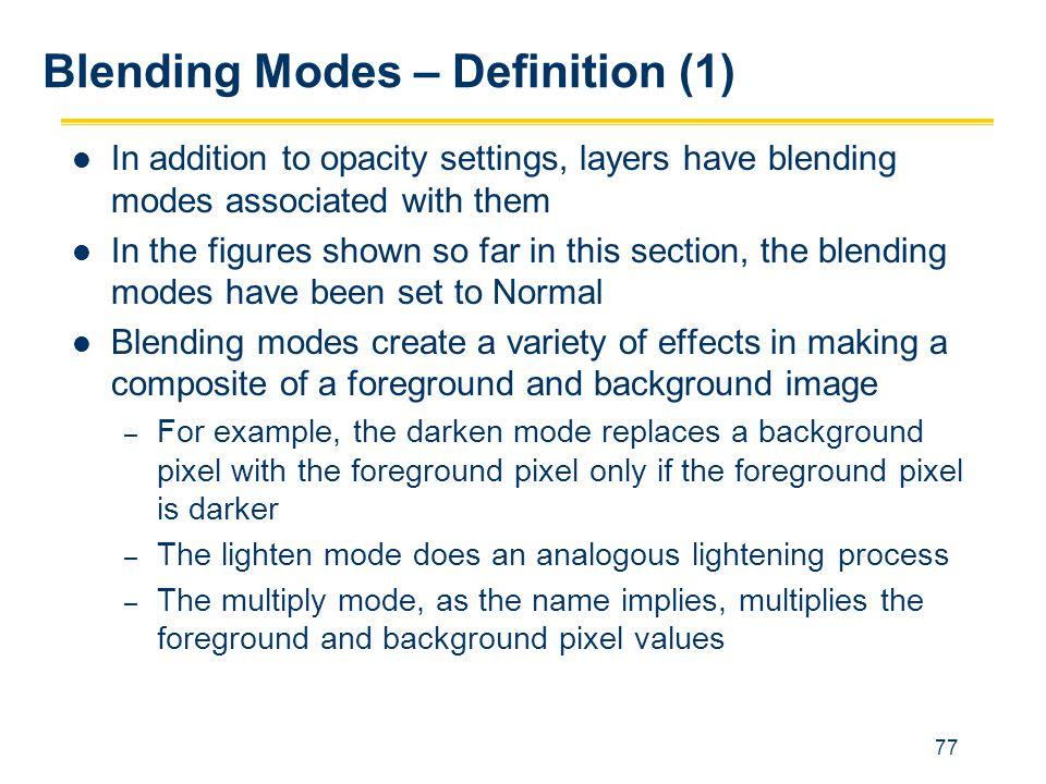 Blending Modes – Definition (1)