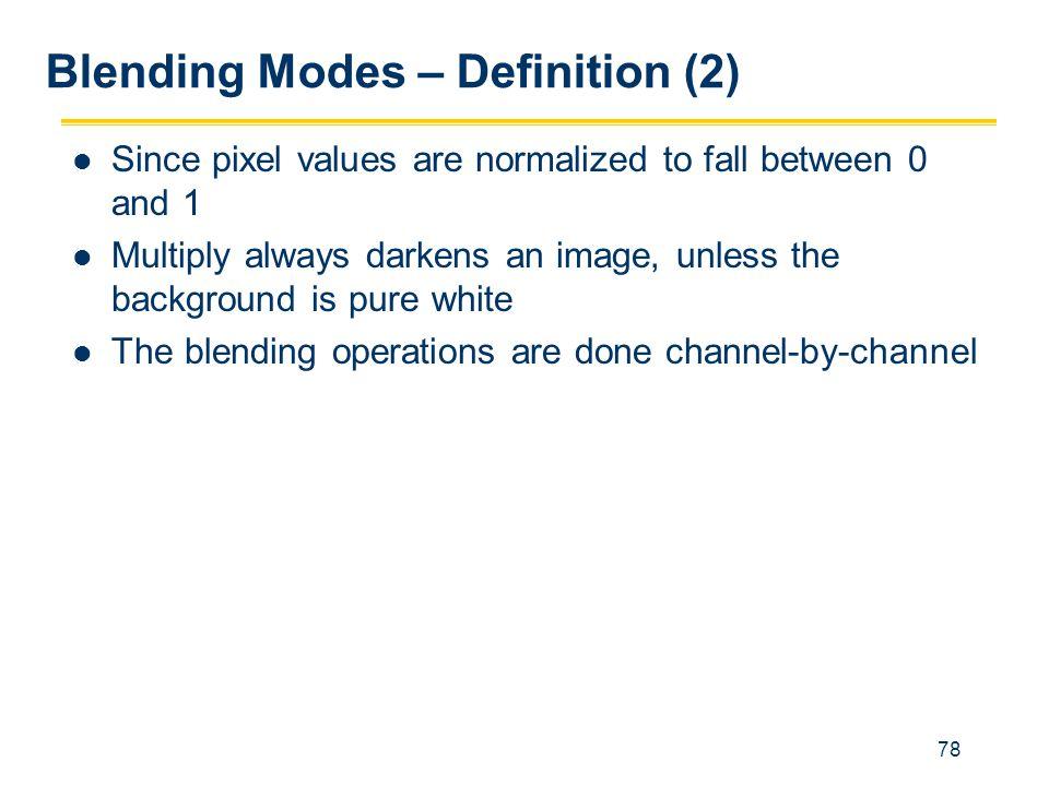 Blending Modes – Definition (2)