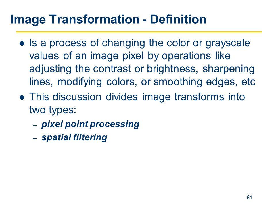 Image Transformation - Definition