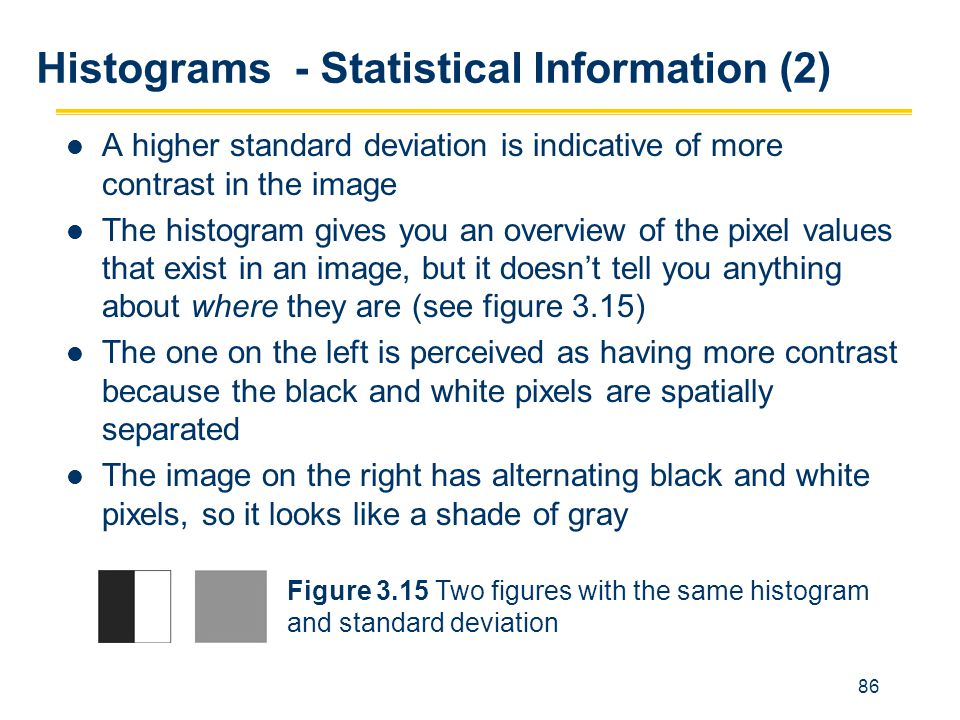 Histograms - Statistical Information (2)