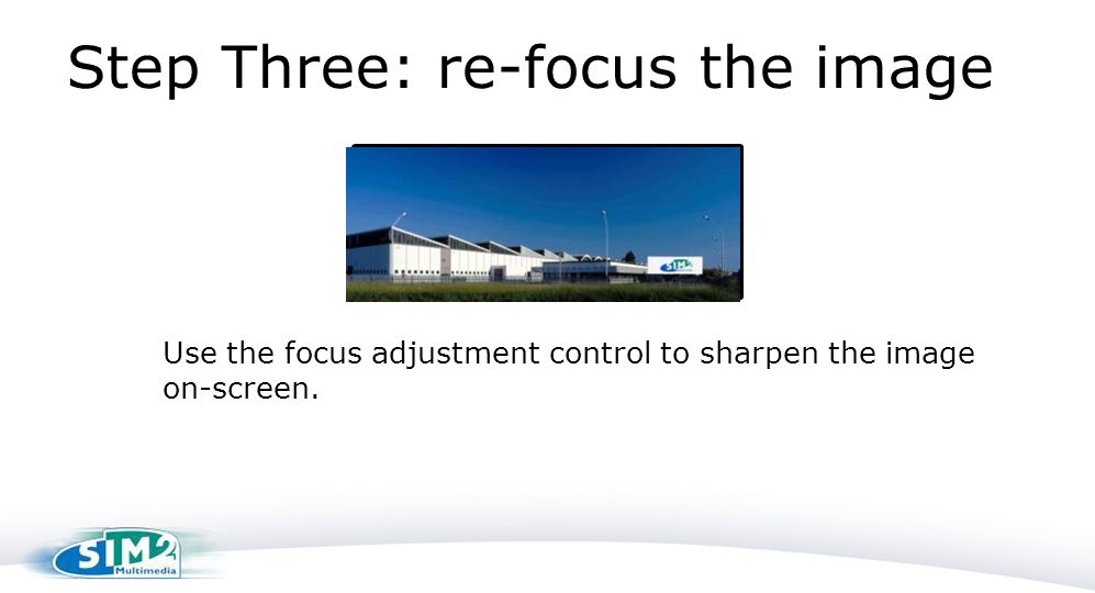 Step Three: re-focus the image