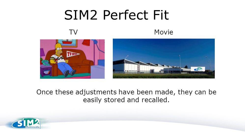 SIM2 Perfect Fit TV Movie