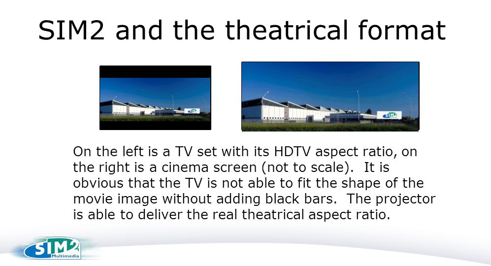 SIM2 and the theatrical format