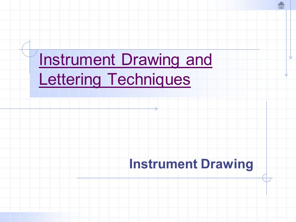 Instrument Drawing and Lettering Techniques
