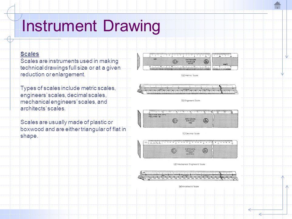 Instrument Drawing Scales
