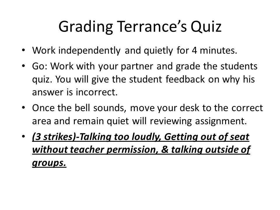 Grading Terrance's Quiz
