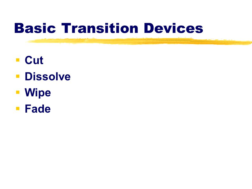 Basic Transition Devices