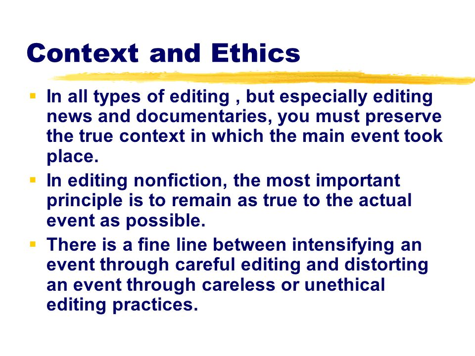 Context and Ethics