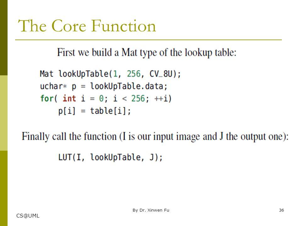 The Core Function By Dr. Xinwen Fu