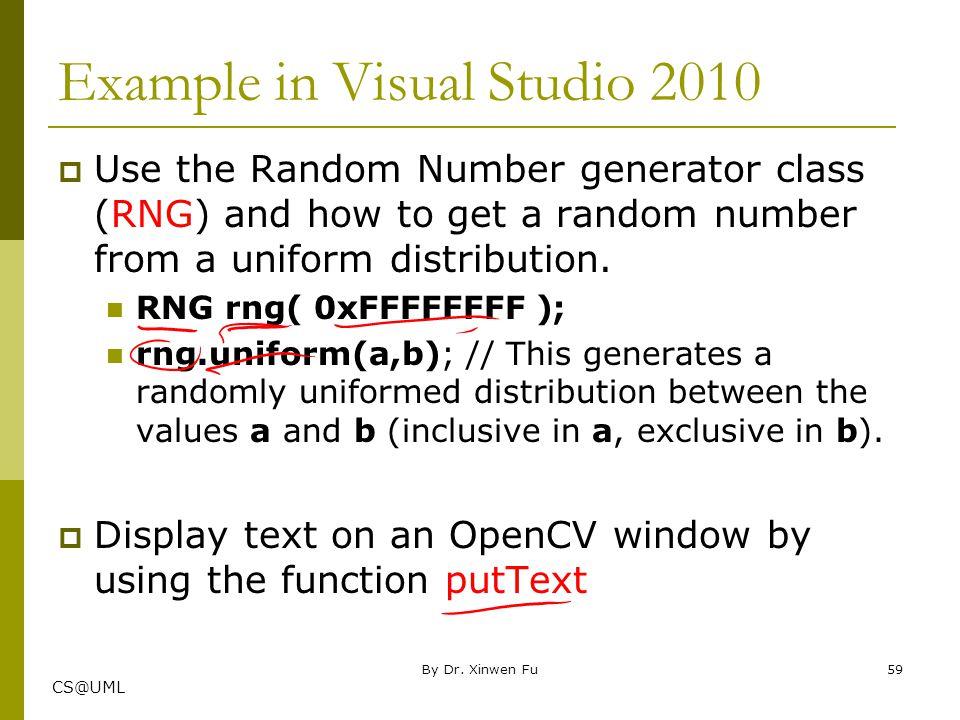 Example in Visual Studio 2010
