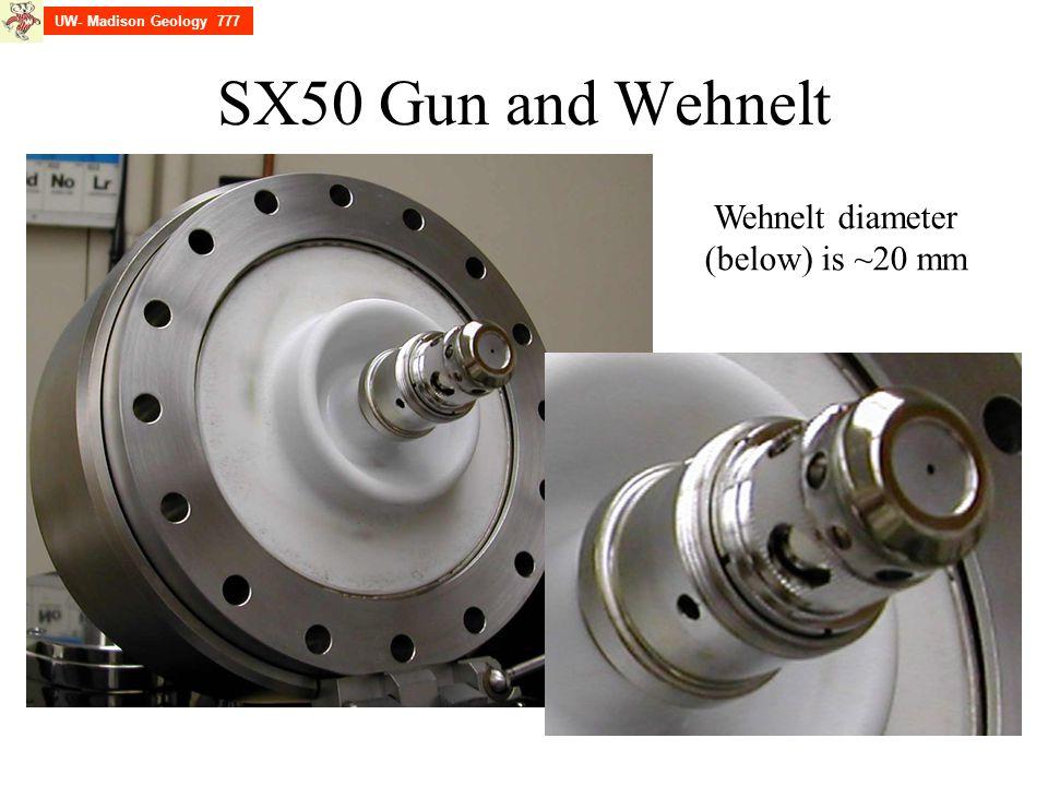 Wehnelt diameter (below) is ~20 mm