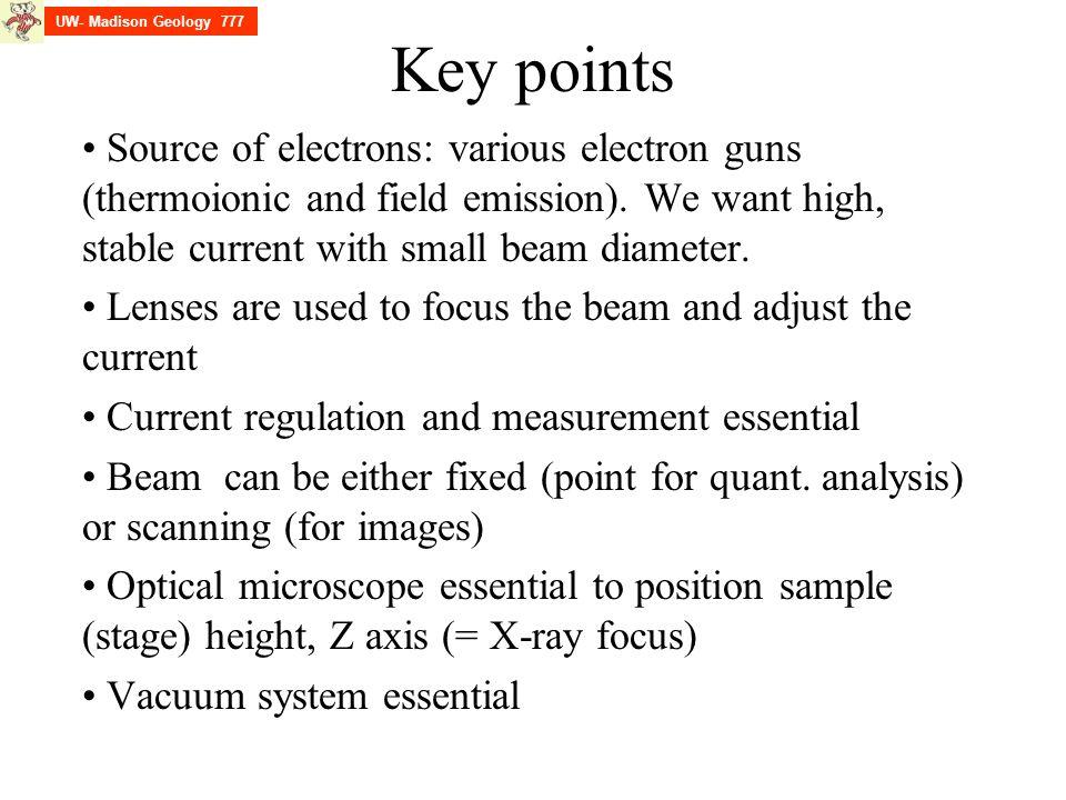UW- Madison Geology 777 Key points.