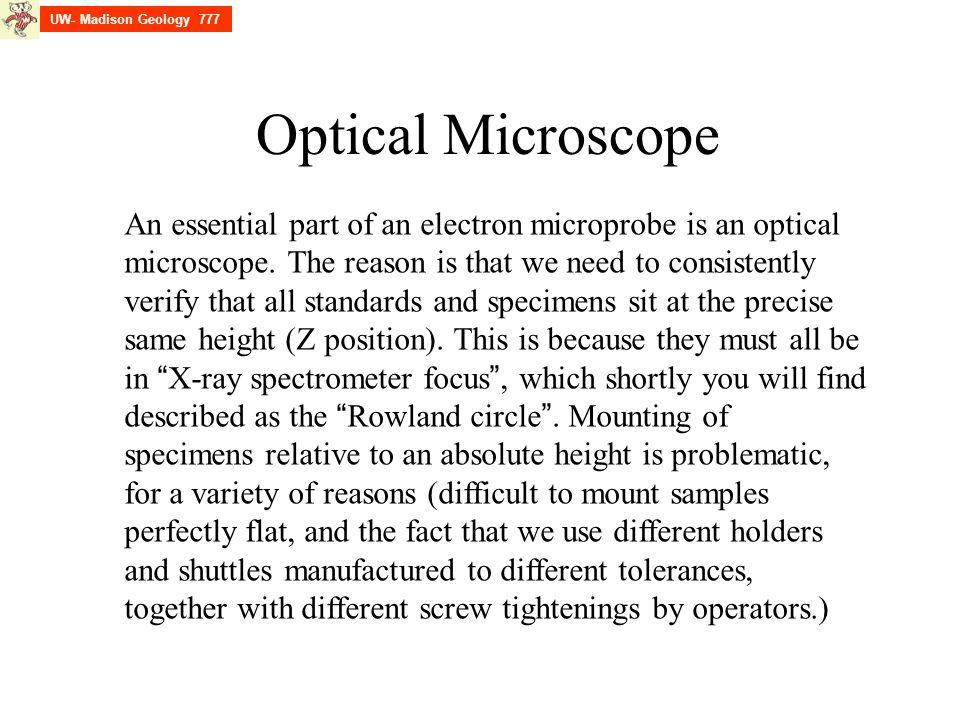 UW- Madison Geology 777 Optical Microscope.