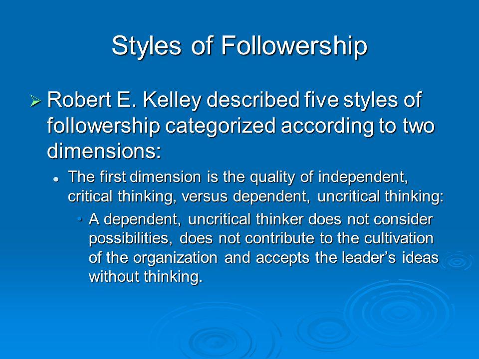 Styles of Followership