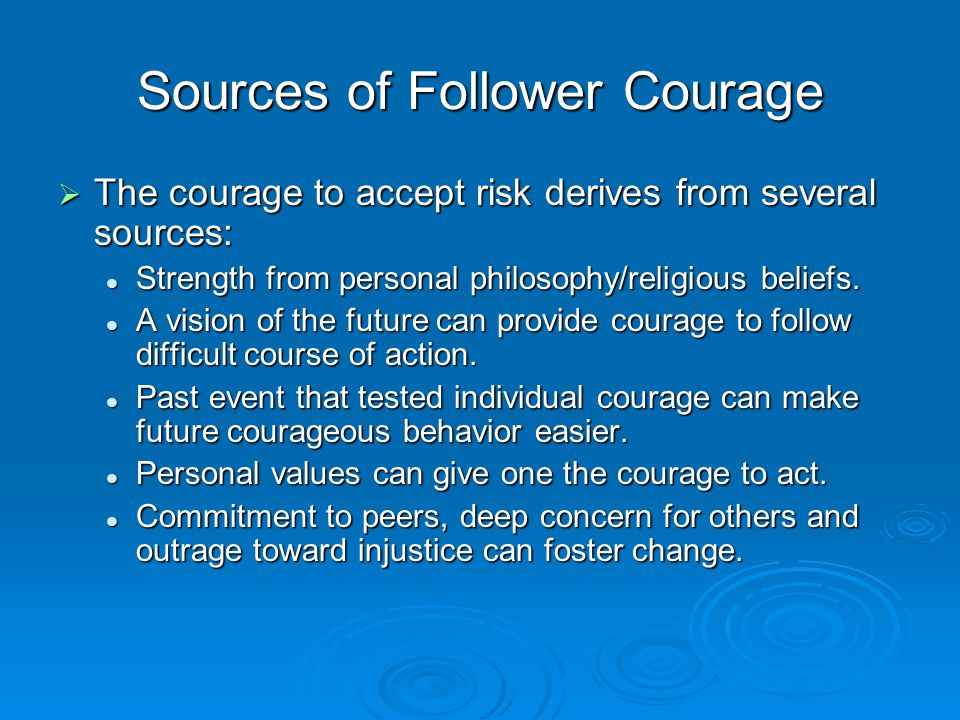 Sources of Follower Courage