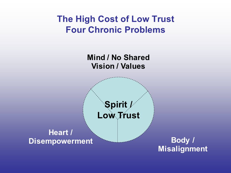 The High Cost of Low Trust Four Chronic Problems