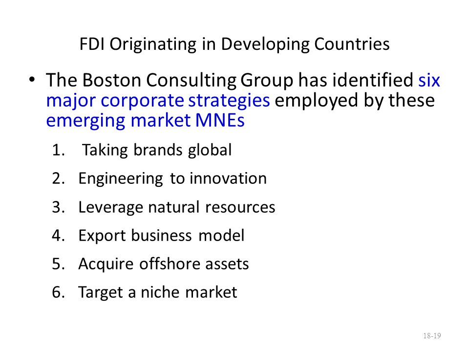 FDI Originating in Developing Countries