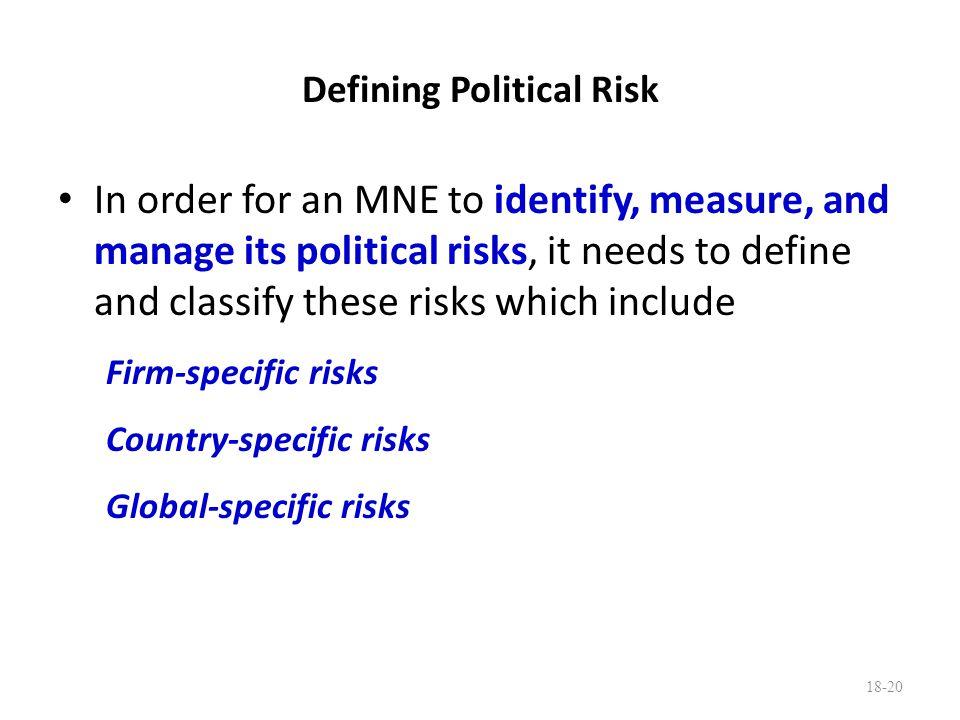 Defining Political Risk