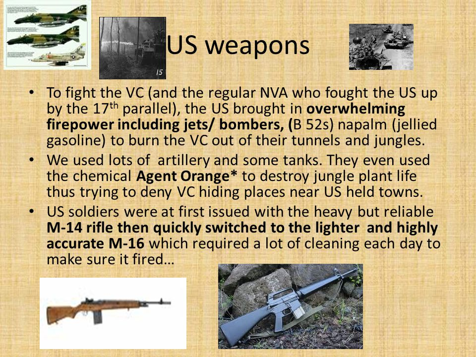 US weapons